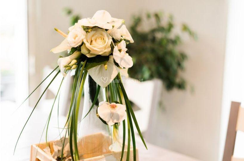 Centre table déco mariage