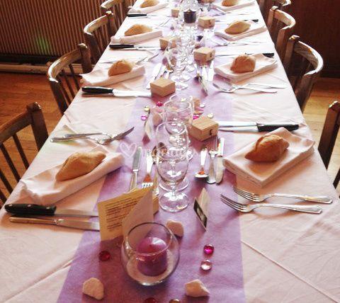 Table de banquet décorée