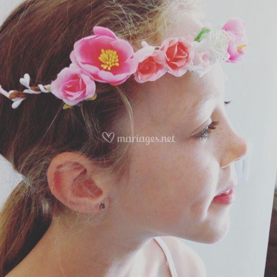 Couronne de fleurs originale