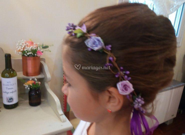 Couronne fleurs et baies