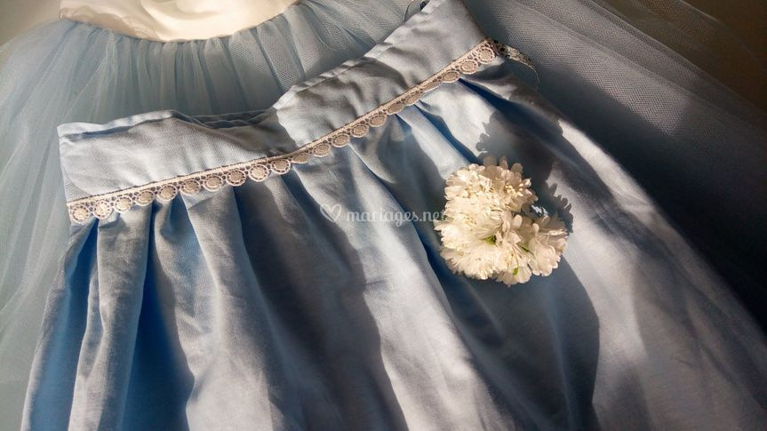Jupon en coton bleu