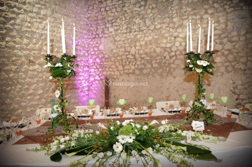 Table d'honneur nature chic