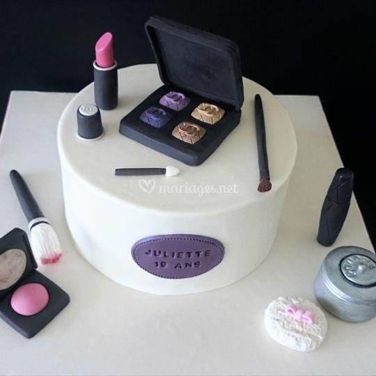 """Gâteau thème """"maquillage"""""""