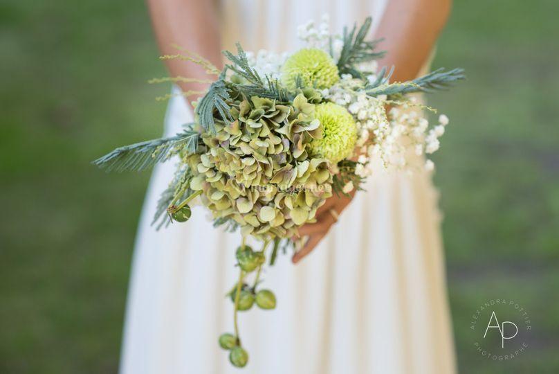 Le bouquet de la mariée sur Alexandra Pottier Photographe