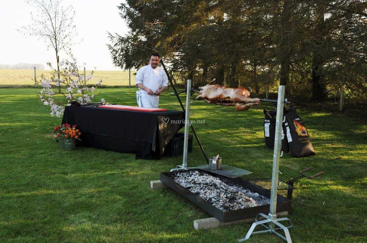 Barbecue, cochon grillé