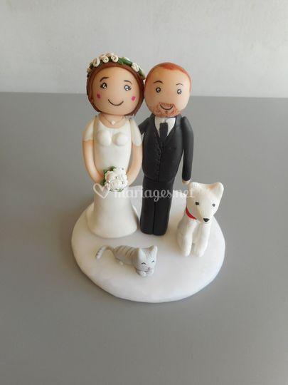 Couple avec animaux