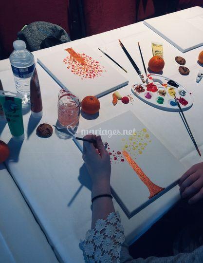 Atelier peinture sur toile