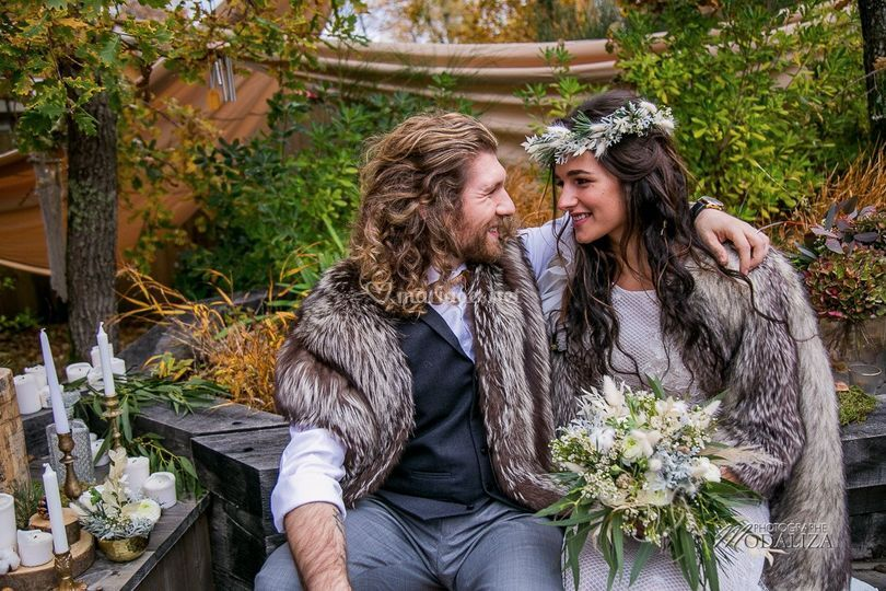 Mariage automne hiver nature
