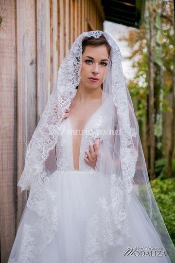 Mariée glamour chic cap ferret