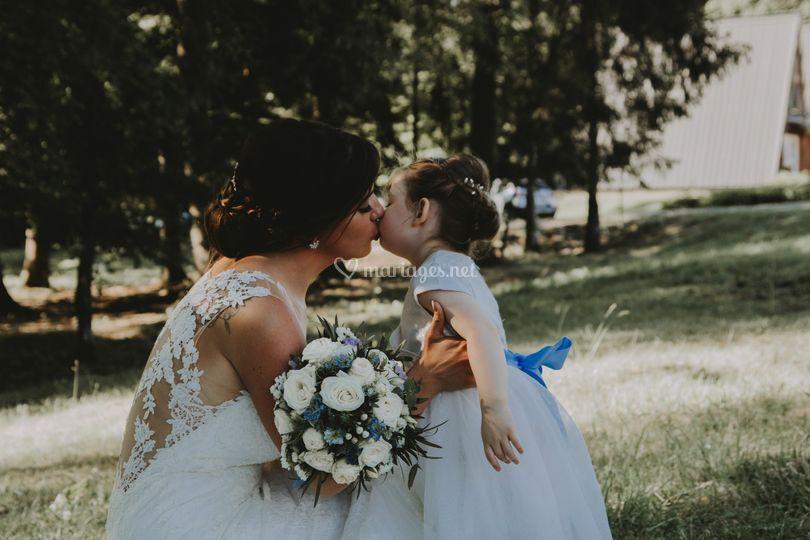 Mariée et sa fille