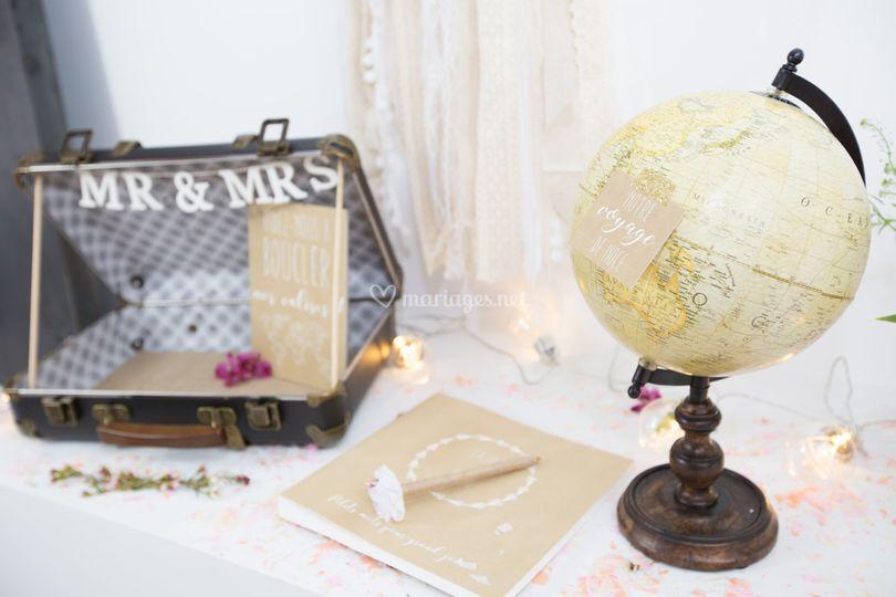 Table urne de mariage