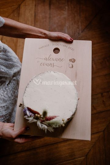 Nude cake mariage