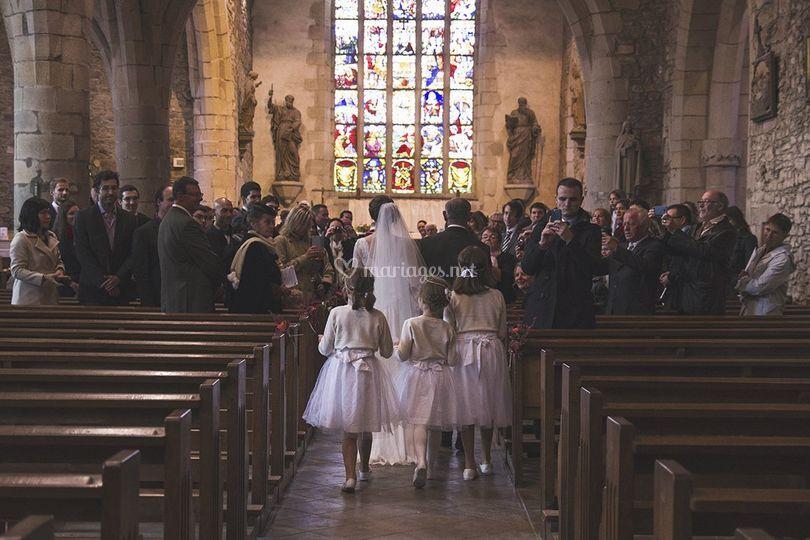 L'entrée dans l'église