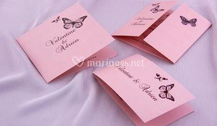 Faire parts mariage papillons