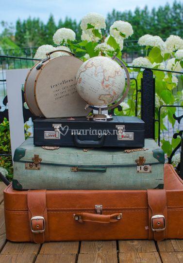 Mariage en thème de voyage