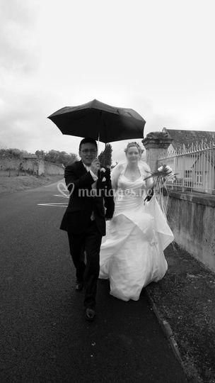 Mariage pluvieux mais heureux