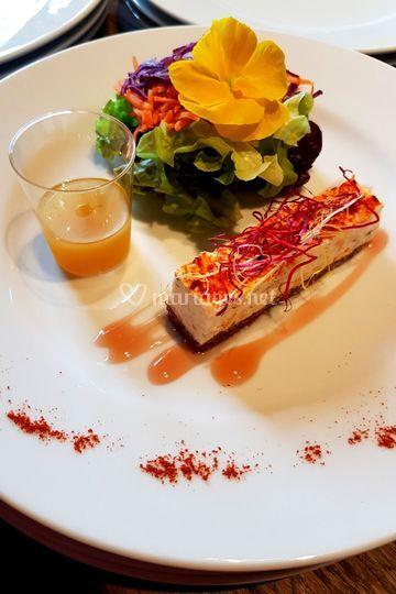 Entremet saumon, mascarpone,