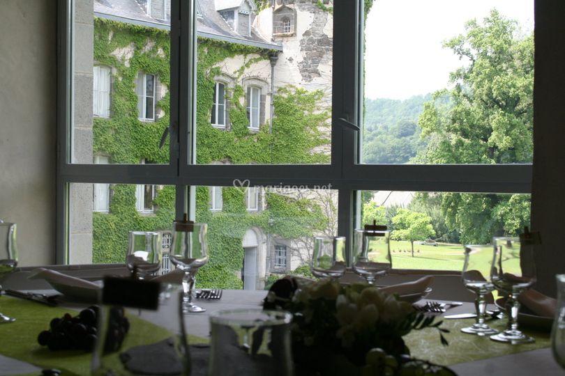 Salle vue château et parc