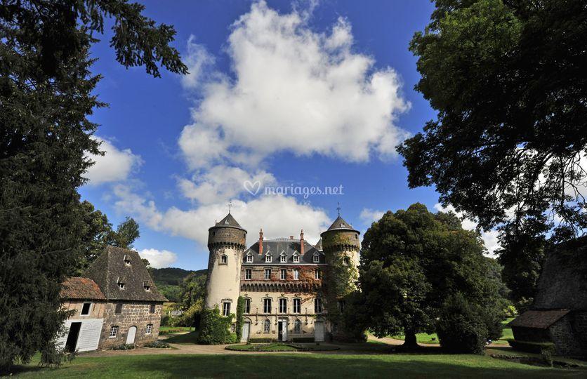 Château et parc coté sud