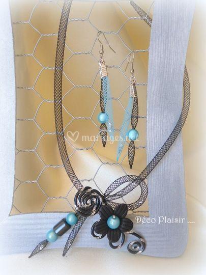 Bijoux noir et turquoise