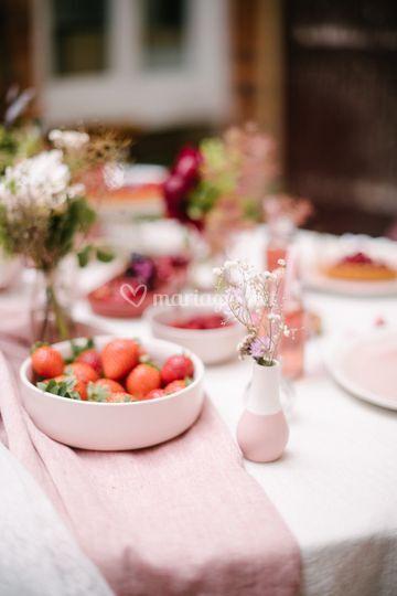 Table déclinaisons roses