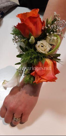 Bracelet bouquet de mariée