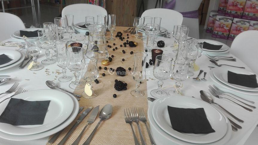 Table noel dore