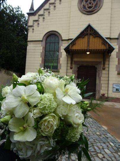 Le bouquet de mariée de Marie