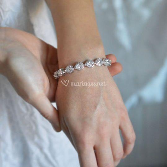Bracelet mariée cristal