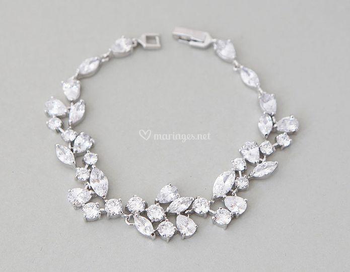 Bracelet mariée Zircon
