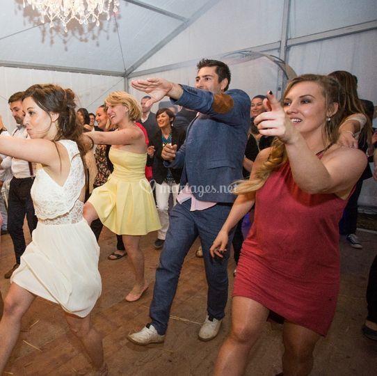 Flashmob des invités