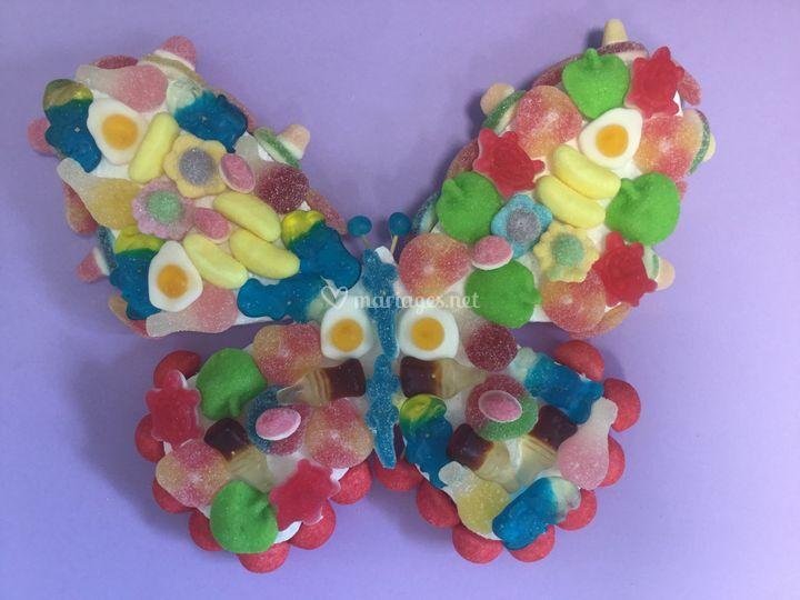 Thème papillon pour votre candy bar