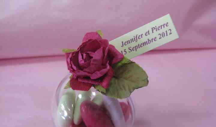 Boule et dragées, rose fuchsia