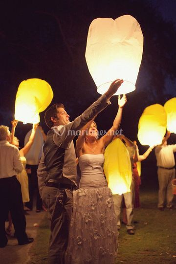 Animation lanternes volante