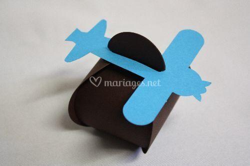 Avion chocolat turquoise 50g
