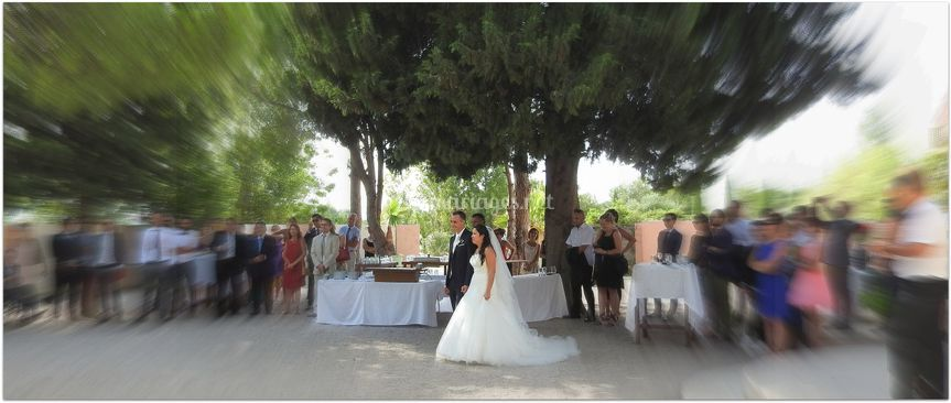 Les mariés et leurs invités