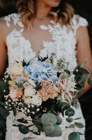 Bouquet de mariée pastel