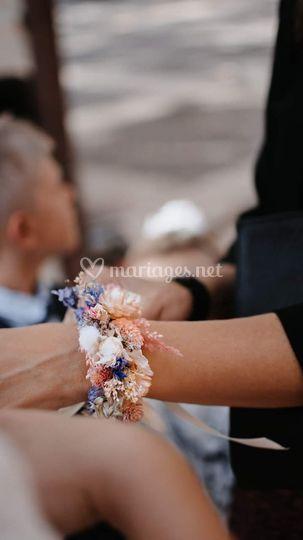 Bracelet Fleurs séchées temoin
