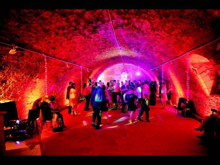 Éclairages salle de danse