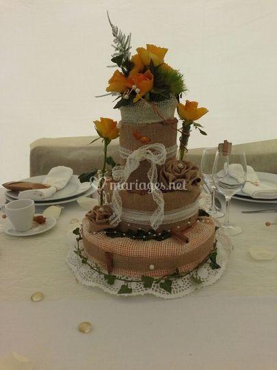 Décoration gâteau fleurs