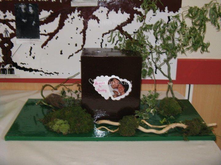 Décoraiton urne (thème nature)