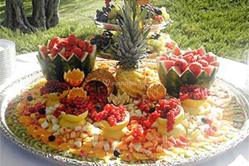 La fontaine de fruits frais