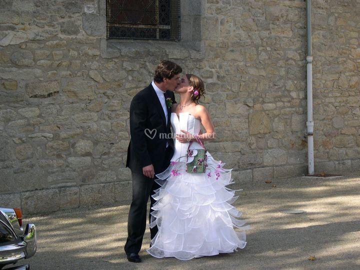 Robe de mariée pétales