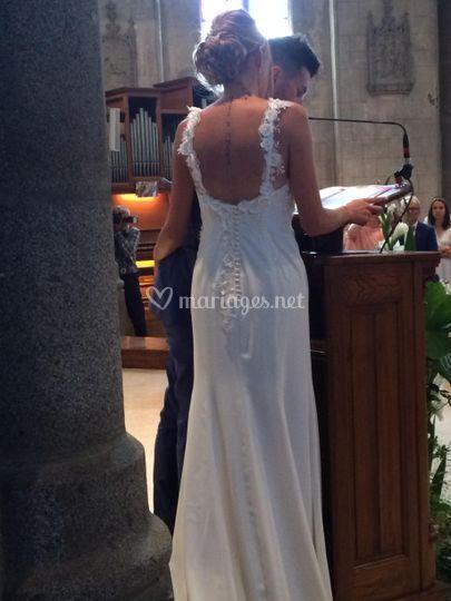 Robe de mariée incrustation