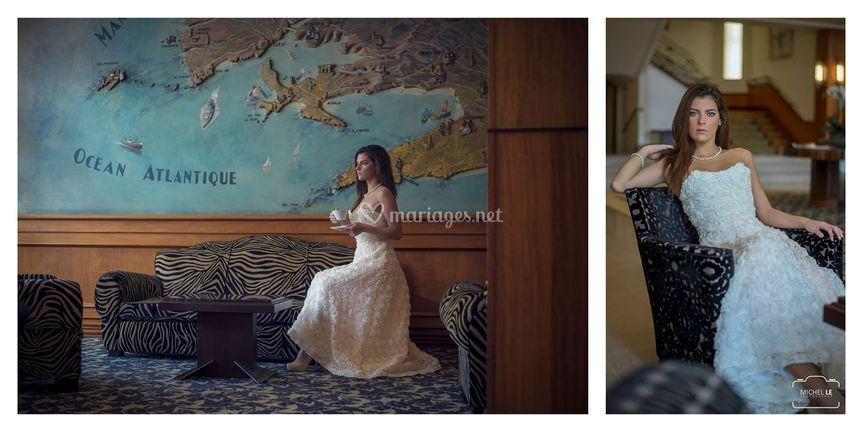 Robe de mariée roses