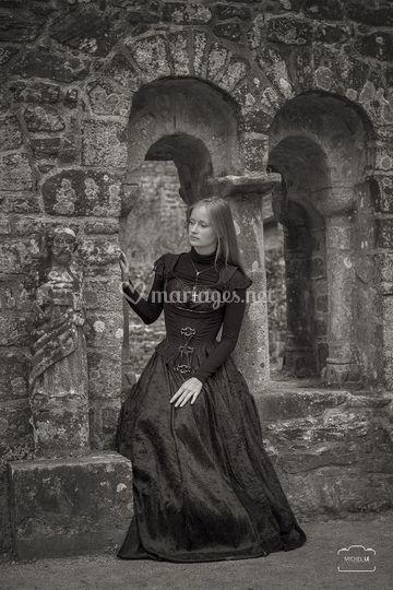 Robe de mariée gothique