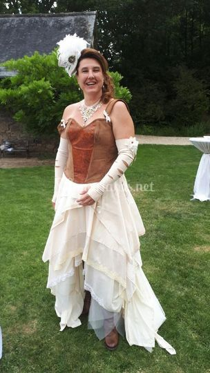Robe de mariée steampunk