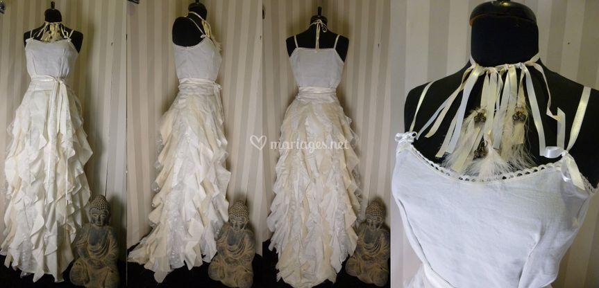 Robe de mariée lambeau