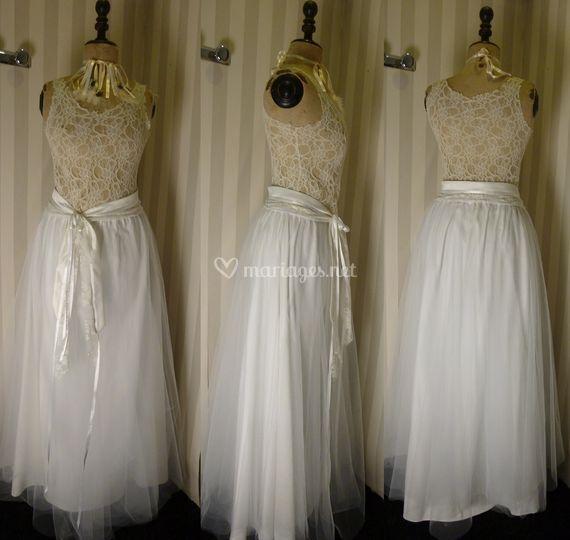 Robe de mariée dentelle et tul