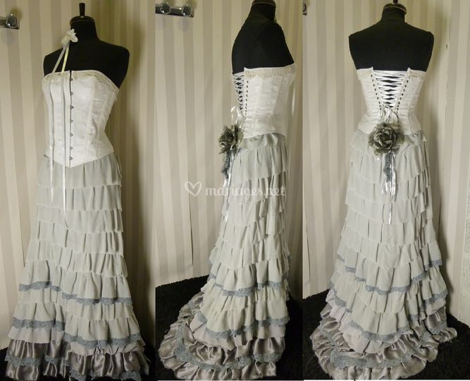 Robe de mariée volants